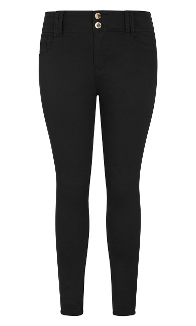 Asha Short High Rise Skinny Jean - black