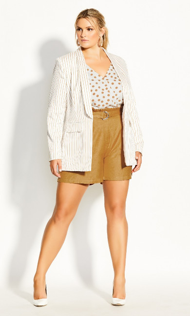 Sweetly Belted Short - gold