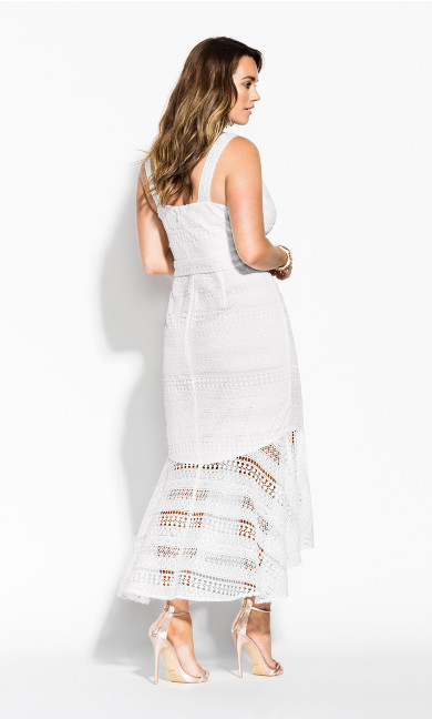Simmer Lace Dress - white