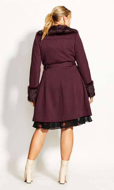 Make Me Blush Coat - plum