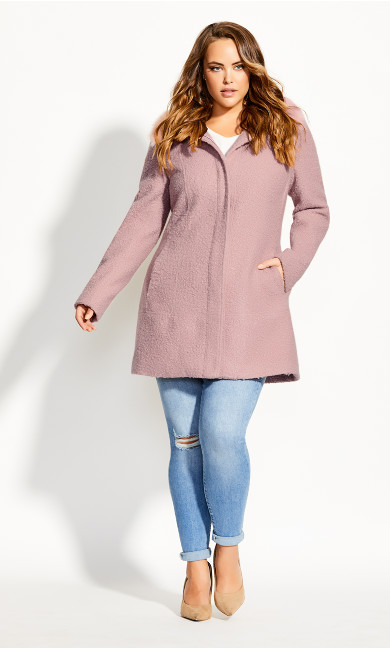 Women's Plus Size Sweet Dreams Coat - pink