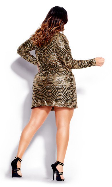 Bright Lights Dress - gold