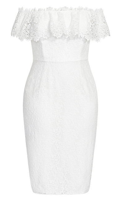 Lace Flourish Dress - ivory