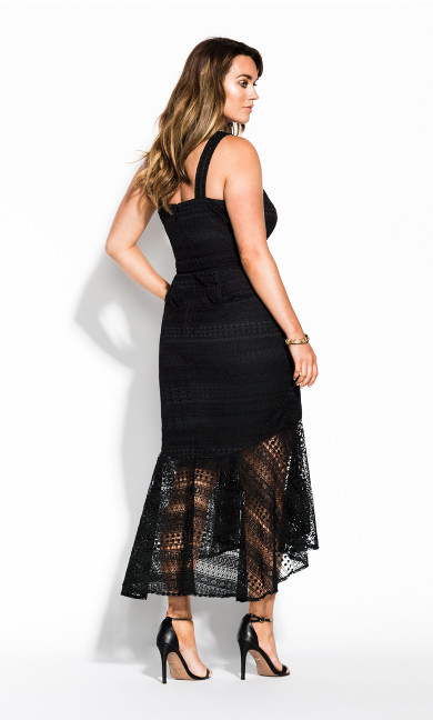 Simmer Lace Dress - black