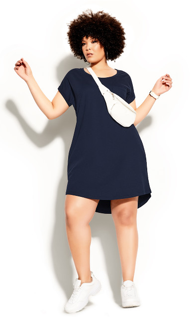Plus Size Lazy Days Dress - navy