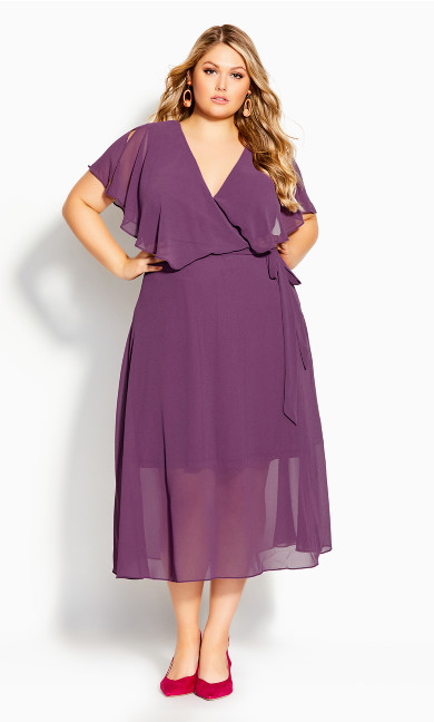 Plus Size Softly Tied Dress - orchid