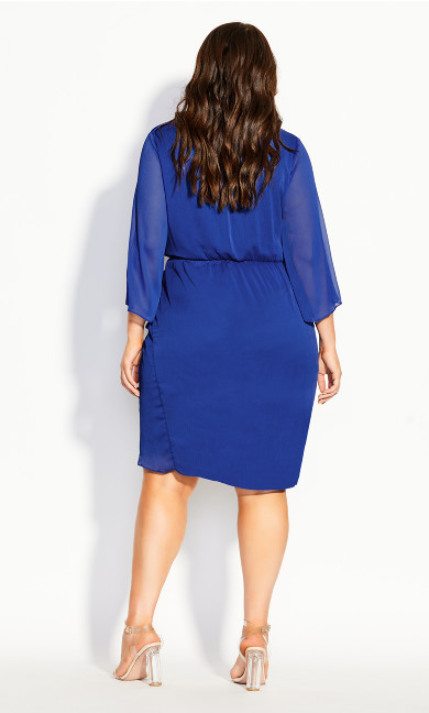 Softly Wrap Dress - cobalt