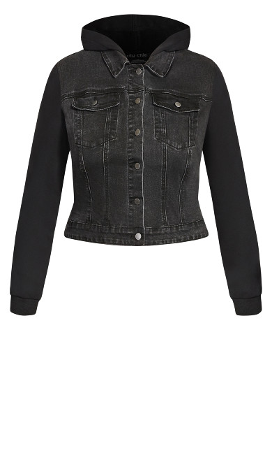 Denim Street Jacket - black