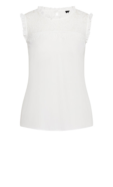 Lace Angel Top - ivory