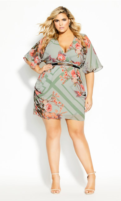 Plus Size Sierra Scarf Dress - sage