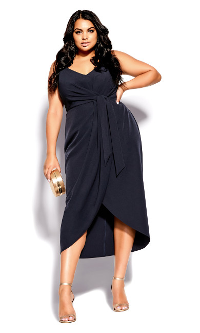 Plus Size Navy Love Affair Maxi Dress