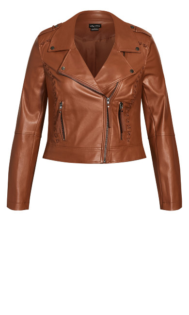 Cross Stitch Biker Jacket - ginger