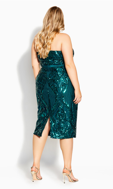 Sequin Sofia Dress - emerald
