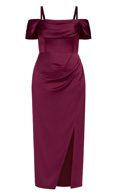 Forbidden Love Maxi Dress - garnet
