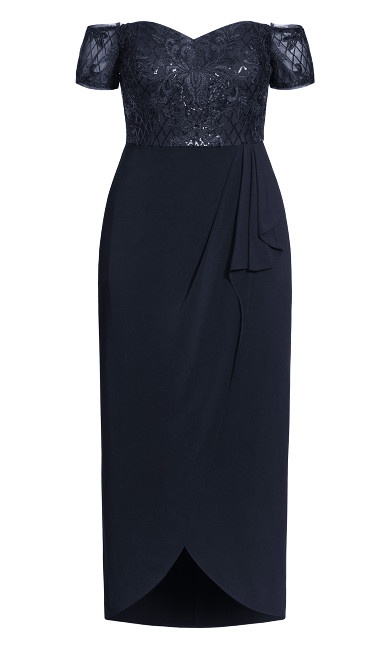 Romantic Ruffle Maxi Dress - midnight