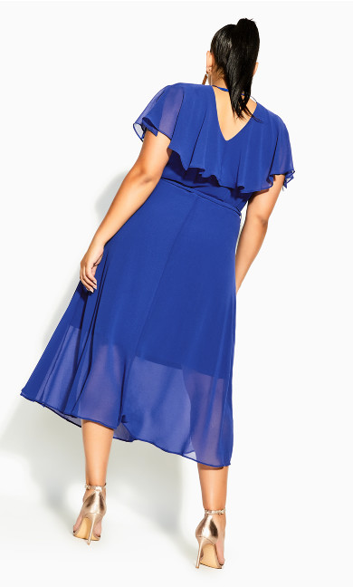 Softly Tied Dress - lapis