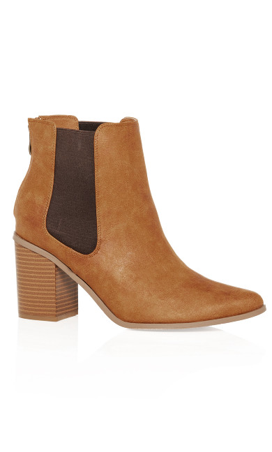 Women's Plus Size Maddie Ankle Boot - caramel