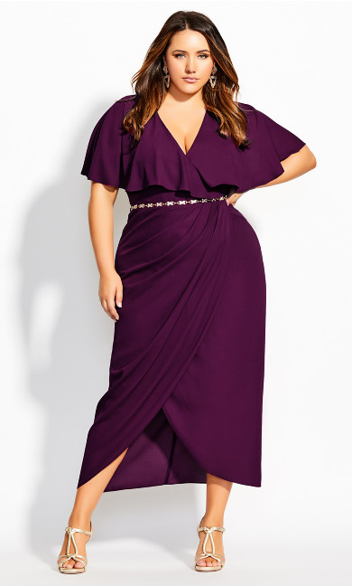 Women's Plus Size Enchantment Maxi Dress - mulberry