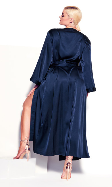 Long Satin Wrap - midnight