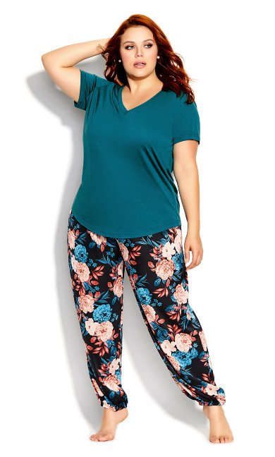 Plus Size Sleep Tee - teal