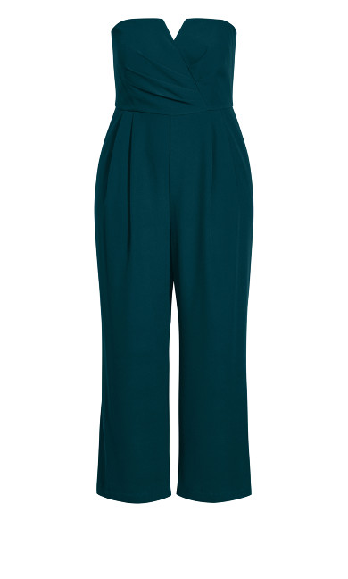 So Sassy Jumpsuit - emerald