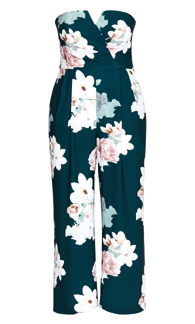 Emerald Floral Jumpsuit - emerald
