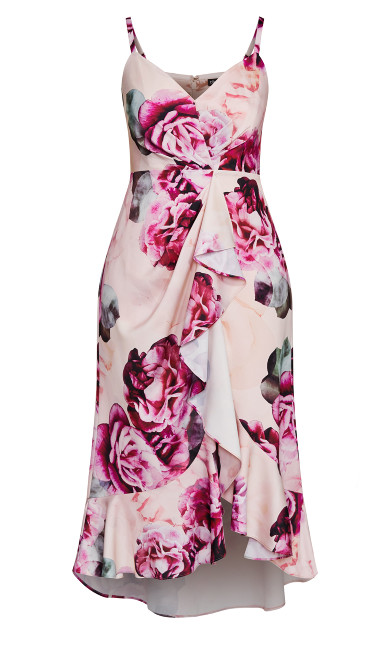 Vintage Blossom Maxi Dress - blush