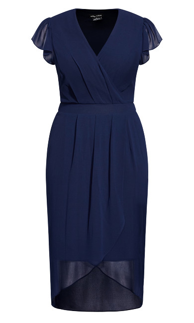 Wrap Swing Dress - navy