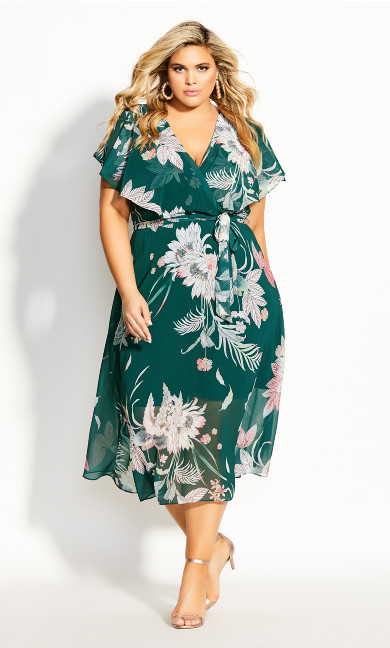 Women's Plus Size Amazon Lily Maxi Dress - sage