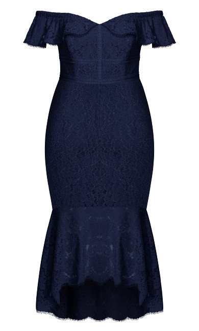 Angel Lace Dress - navy
