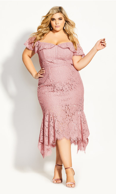 Angel Lace Dress - rose