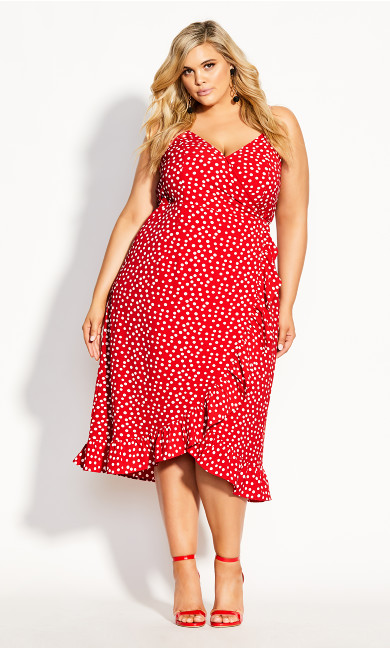 Wrap Dream Dress - red