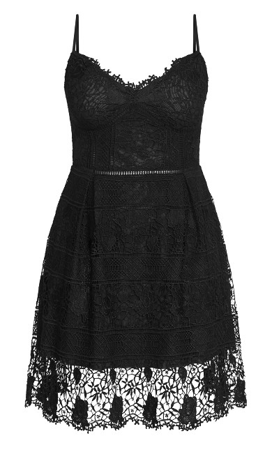 Lace Passion Dress - black