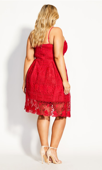 Lace Passion Dress - red
