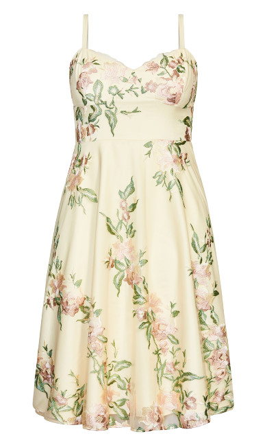 Delicate Embroidery Dress - cream
