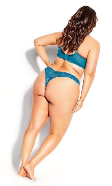Sexy Glam Thong - emerald