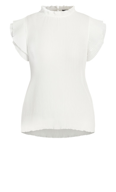 Off Beat Top - ivory