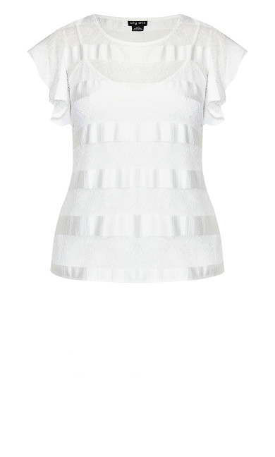 Delectable Top - ivory