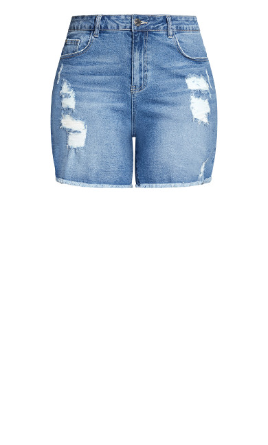 Foxy Rips Short - denim
