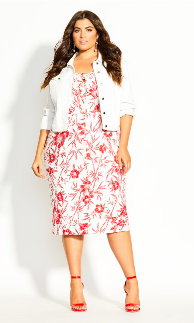 Island Bloom Dress - white