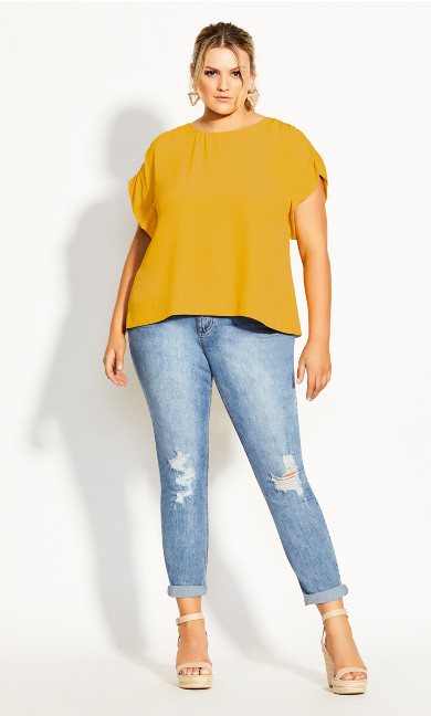 Precious Shoulder Top - amber