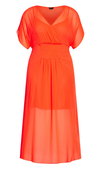 Spirited Maxi Dress - flame