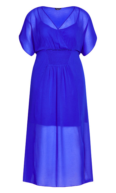 Spirited Maxi Dress - cobalt