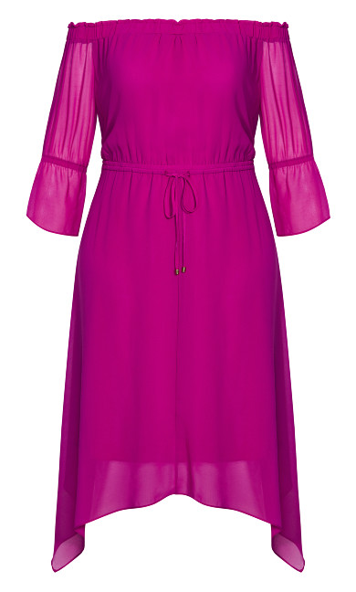 Reflections Dress - magenta