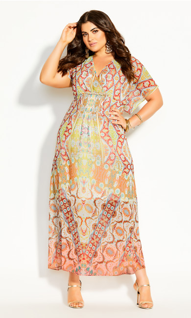 Saffron Mirror Maxi Dress - saffron