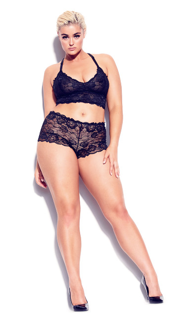Plus Size Kira Lace Bralette - black
