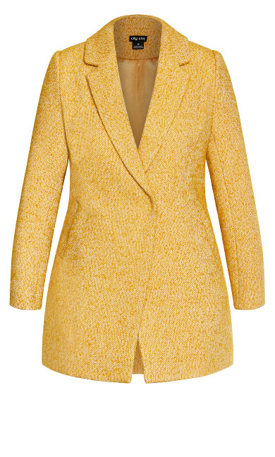 Textured Bliss Coat - gold