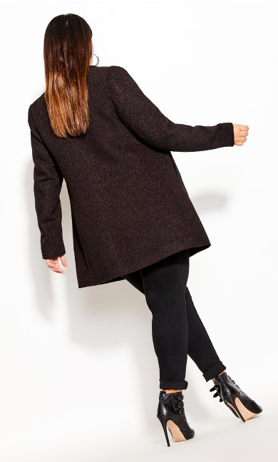 Textured Bliss Coat - oxblood