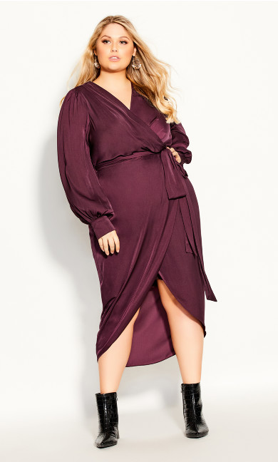 Plus Size Opulent Dress - plum