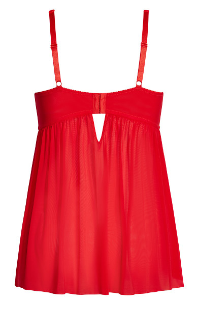 Eve Babydoll - red